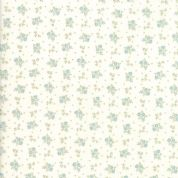 Moda - Porcelain - 3 Sisters - 6342 - Briar Rose Floral, Duckegg on Cream - 44197 22 - Cotton Fabric